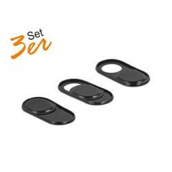 Pack 3 obturateurs Webcam noir