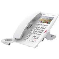Téléphone SIP H5W-Hotel PoE blanc