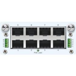 8 port GbE PoE FleXi Port module + PSU