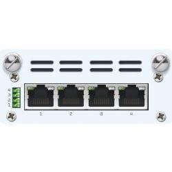 4 port GbE PoE FleXi Port module + PSU