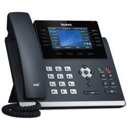 """Téléphone SIP T46U 16 comptes Giga PoE couleur 4"""""""